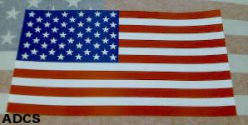 USA flag decal for your truck, RV or car window. A sticker!